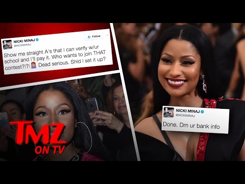 Nicki Minaj – Paying For College Tuition For Fans On Twitter! | TMZ TV