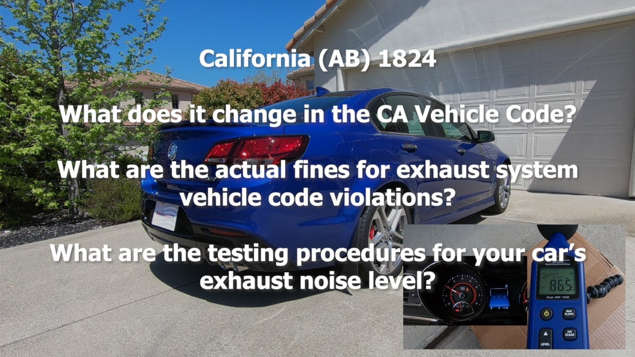 CA AB 1824 - Updated Info - Fines and Testing - Check Description for  Updates