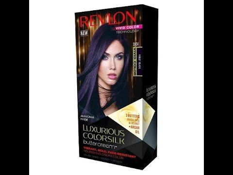REVLON VIVID VIOLET BLACK HAIR COLOR - YouTube