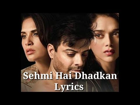 Sehmi Hai Dhadkan Lyrics Video | Karaoke Song | Daas Dev | Atif Aslam