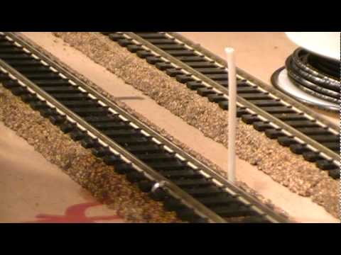 how to er track feeder wires ho scale model railroad