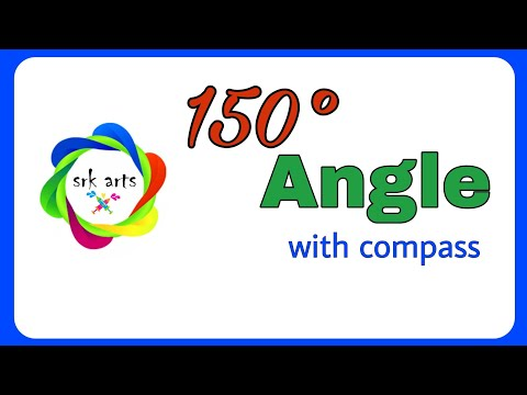How to construct 150 degree angle with compass||150 degree ...