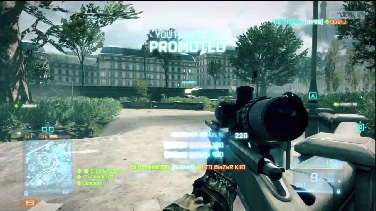 Battlefield 3 M40A5 Gameplay HD Xbox 360 - YouTube