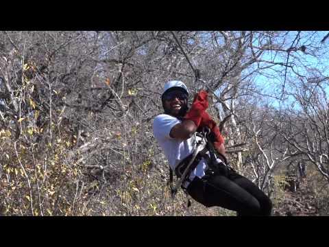 Somen Debnath in Botswana - 1st zip line at Moriti Wa Selemo