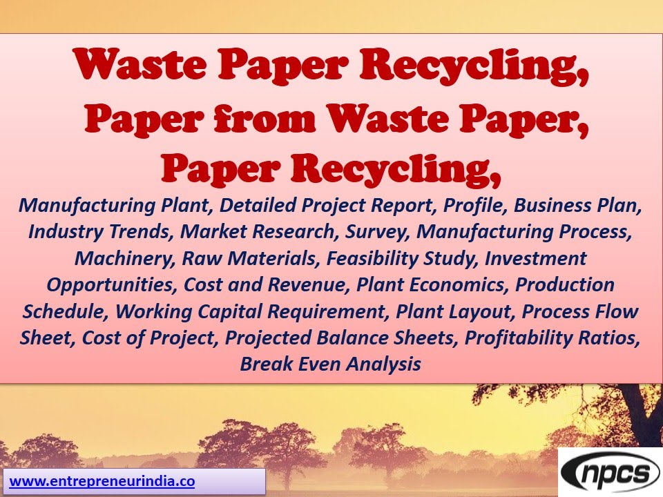 Waste Paper Recycling Paper From Waste Paper Paper Recycling