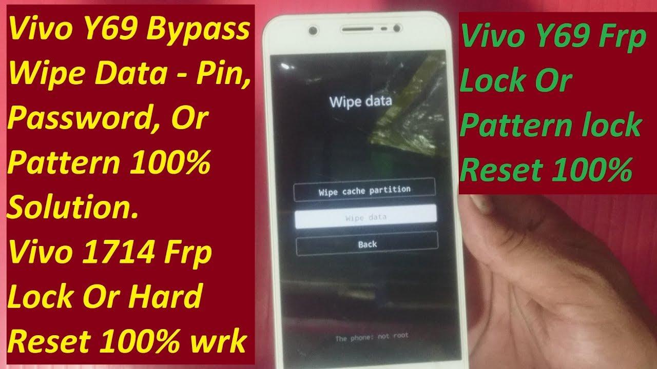 Vivo Y69 Bypass Wipe Data Password, Vivo 1714 Password Unlock, Vivo Y69  Hard Reset New Method 💯%