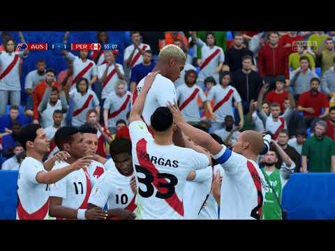 Fifa 18 world cup. Peru v Australia in 4k Ultra HD