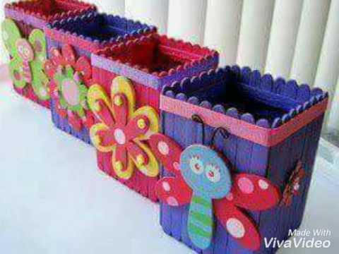 Art And Craft Ice Cream Sticks Youtube