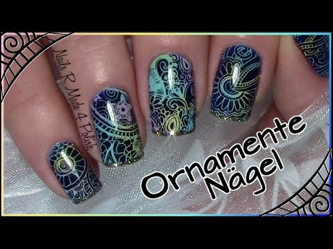 bunte-ornamente-nägel-/-einfaches-stamping-nageldesign-/-quick-&-easy-nail-art-design-tutorial