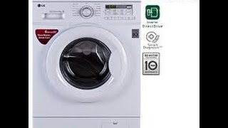 lg 6 kg fully automatic front load washing machine demo