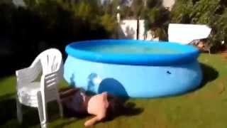 Самые безбашеные прыжки в бассейн! Приколы 2015