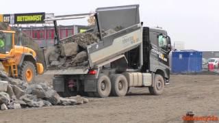 Volvo FH 540 Euro 6 Dump Truck Tipping Rocks