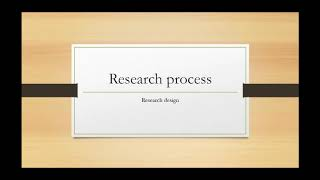 Research process episode 8: Introduction to research design