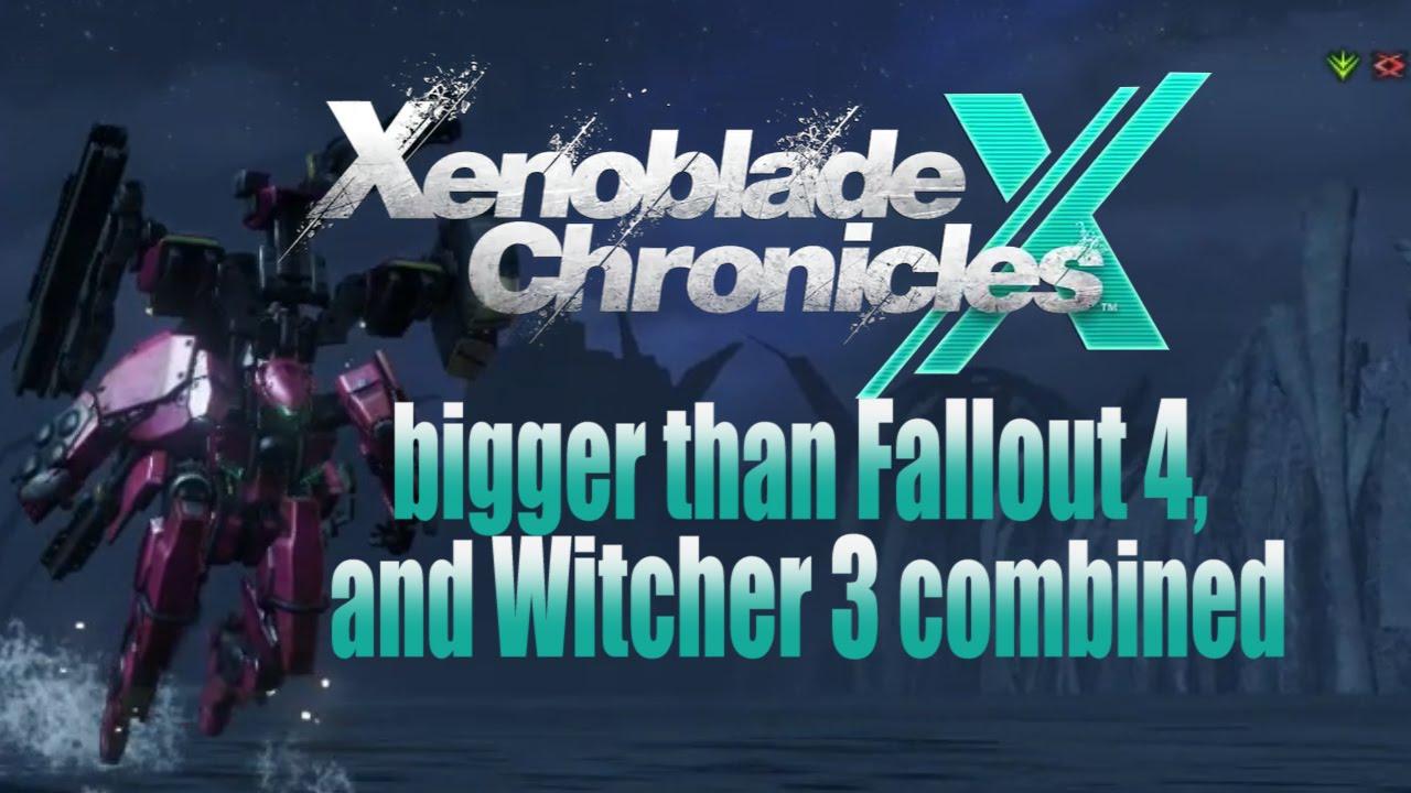 Xenoblade chronicles x bigger than skyrim fallout 4 or witcher 3 xenoblade chronicles x bigger than skyrim fallout 4 or witcher 3 youtube gumiabroncs Image collections