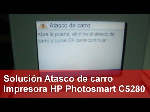 Solución Atasco de carro Impresora HP Photosmart C5280