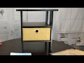 Cheap espresso colored bedroom end table Furinno Night Stands 11157EX setup and review