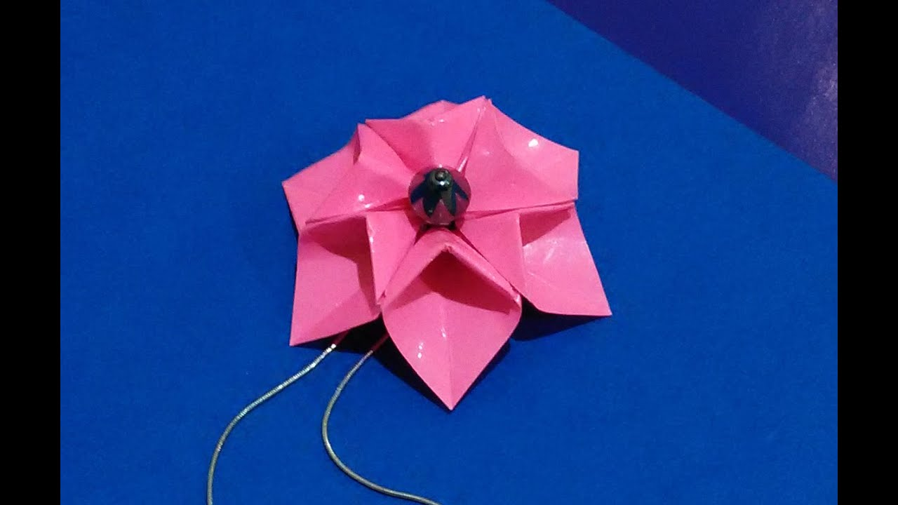 Easy origami flower necklace 3d origami flower origami fashion easy origami flower necklace 3d origami flower origami fashion jewelry youtube mightylinksfo