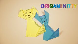 Origami Kitty | Paper Crafts | Kid's Crafts and Activities | Happykids DIY