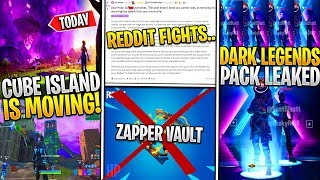 *NEW* Fortnite: Leaked DARK LEGENDS BUNDLE EARLY! Cube Island MOVING, Zapper Vault, REDDIT TOXIC!