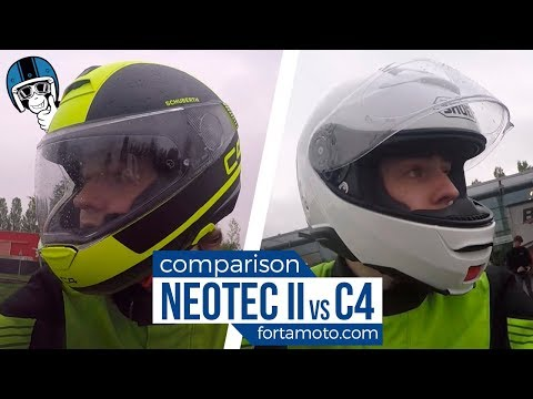 Which one is quieter? Shoei Neotec 2 vs Schuberth C4  ROAD TEST | FortaMoto