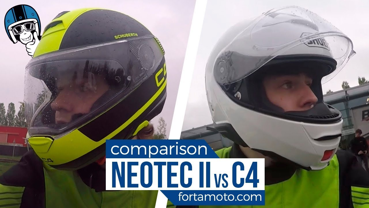 which one is quieter shoei neotec 2 vs schuberth c4 road. Black Bedroom Furniture Sets. Home Design Ideas