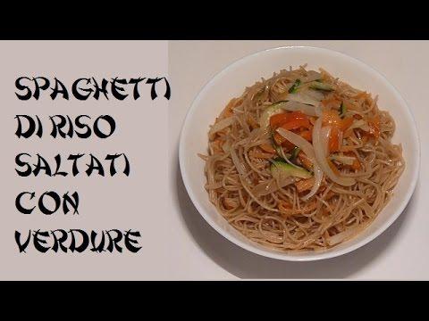Spaghetti di riso saltati con verdure vegan facili e for Ricette cinesi riso