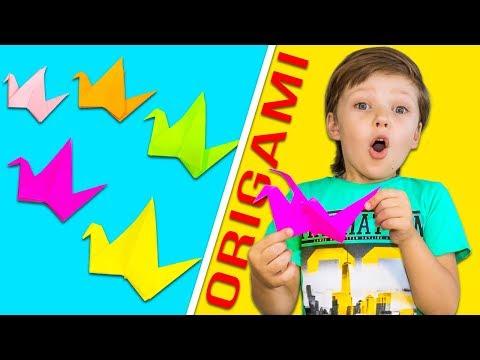 Оригами ЖУРАВЛИК из бумаги | Как сделать живую поделку своими руками? - Продолжительность: 4:54