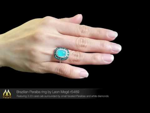 Brazilian Paraiba Ring By Leon Megé R5489