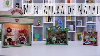 Miniatura de Natal com Bauernmalerei!