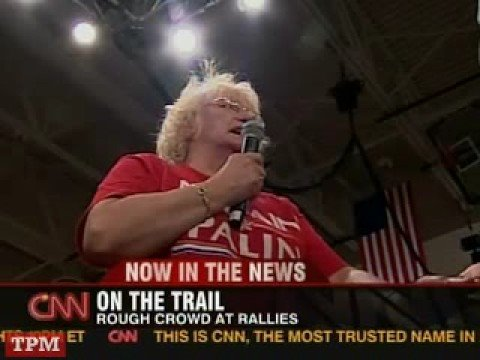 Supporter at McCain Rally Believes Obama is an Arab