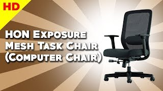 HON BSXVL721LH10 Exposure Mesh Task Chair with 2-Way Adjustable Arms for Office Desk