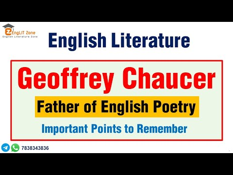 Geoffrey Chaucer's Literary Works/English literature-TGT/PGT