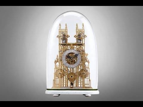Westminster Abbey Architectural Skeleton Clock from M.S. Rau Antiques