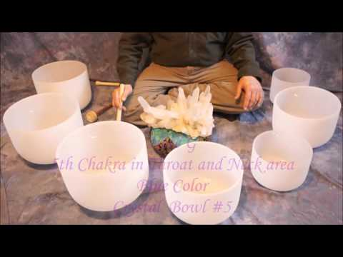 Crystal Bowl 14 min Chakra Meditation~Notes CDEFGAB