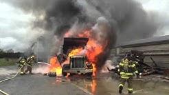 04 07 16 Dump Truck Fire in Earl Township