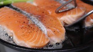 간단하고 맛있는 연어 요리~♥엄마표요리 연어스테이크 /…