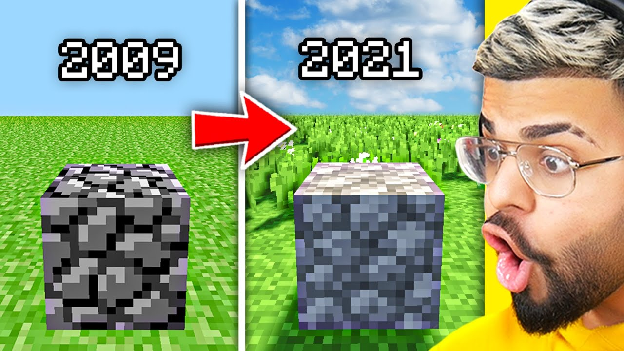 THE EVOLUTION OF MINECRAFT.. (2009 - 2021)