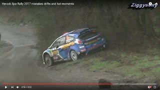 Herock Spa Rally 2017 mistakes drifts and hot moments