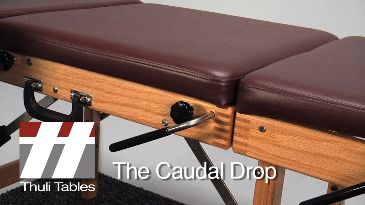 Caudal Drop Positioning On Tour Portable Table Thuli Tables Chiropractic Table