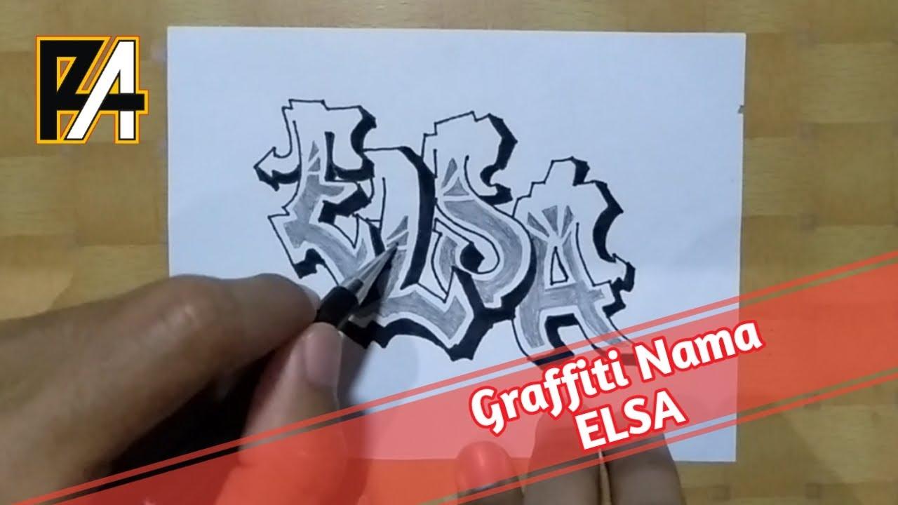 Graffiti Graffiti Nama Elsa Youtube