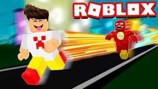 I RAN faster than FLASH on ROBLOX!! (99999999 KM PER HOUR)