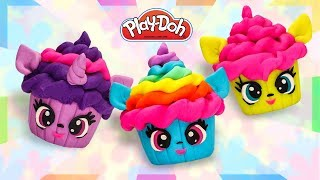 My Little Pony Cupcakes. Play Doh Mini Cakes. DIY How To Make MLP Cakes