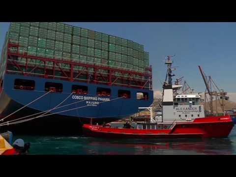 El portacontenedores COSCO Shipping Panama zarpa de Grecia para hacer historia en Panamá
