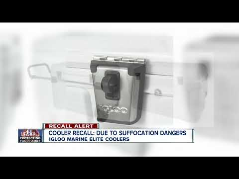 Steve - Igloo Recalling Marine Elite Coolers - Kids Can Get Trapped