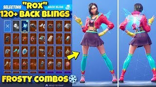 "NEW ""ROX"" SKIN Showcased With 120+ BACK BLINGS! Fortnite Battle Royale (BEST ROX SKIN COMBOS)"