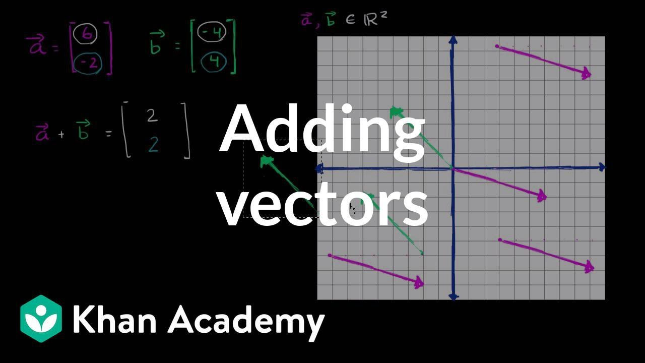 c4768908e18 Adding vectors algebraically & graphically (video) | Khan Academy