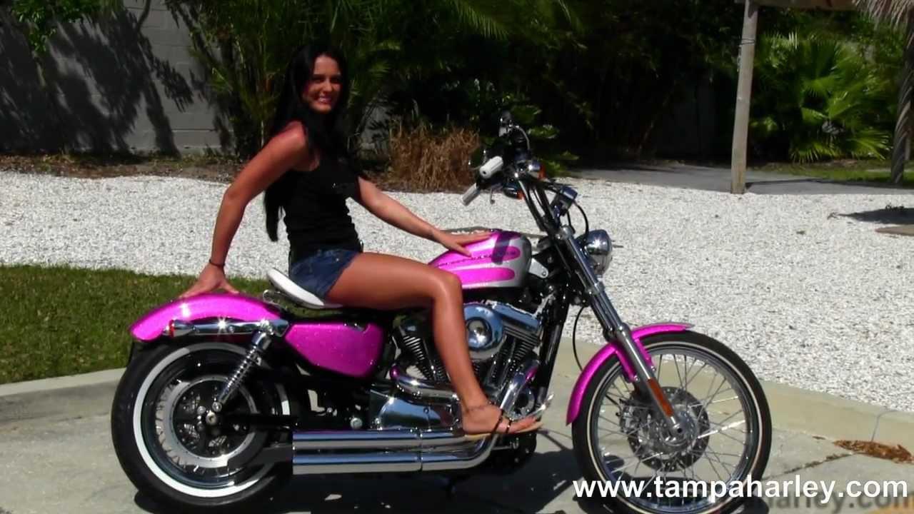 Pink And Black Harley Davidson Motorcycle