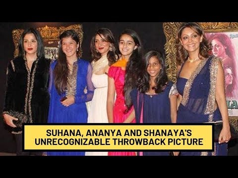 Besties Suhana, Ananya And Shanaya Look Unrecognizable In Recent Throwback Picture | SpotboyE Mp3