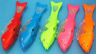 Ikan koi mainan hewan bisa jalan | animals toys for kids | learning colors with colored fish toys