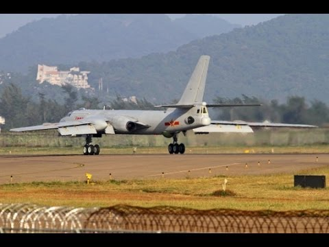 China Strategic bomber H-6K Hawaii within strike 中國戰略轟炸機 劍指夏